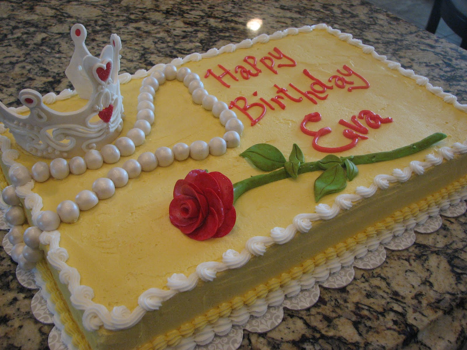 Decadent Designs Evas Princess Belle Birthday Cake