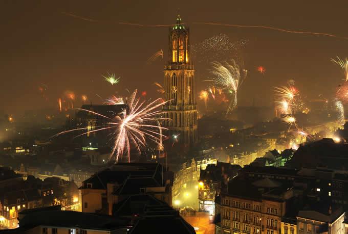 Fogos de artifício em Utrecht