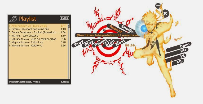 Naruto Biju Mode Winamp Skin 2014