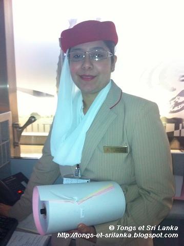 Hotesse Emirates