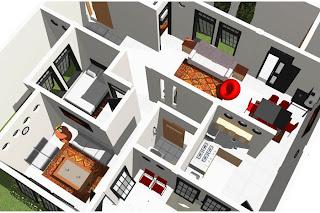 Gambar desain rumah depan kanan