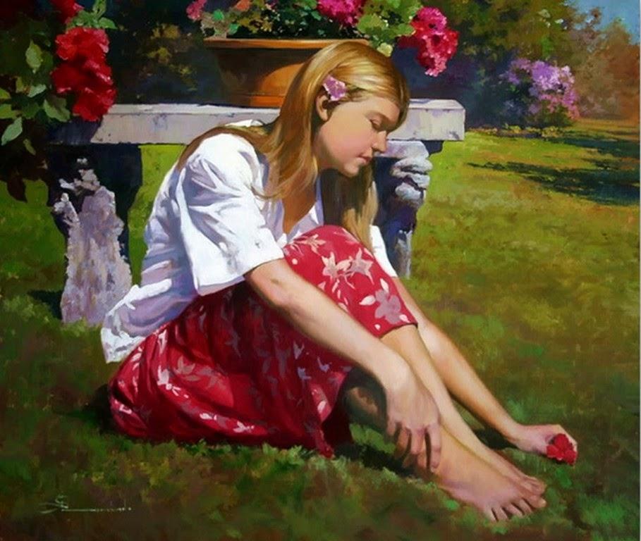 imagenes-de-cuadros-de-mujeres-con-flores