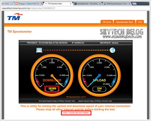 Internet Streamyx 38 Mbps