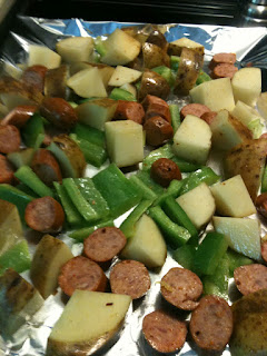 Simple Smoked Sausage with peppers and potatoes