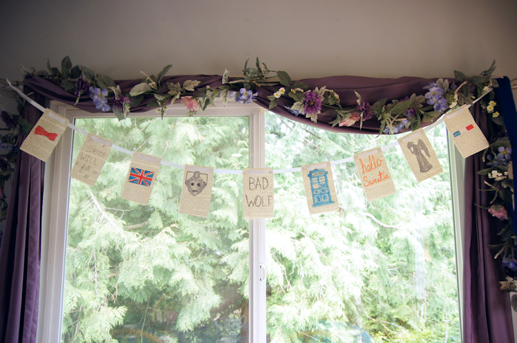 DIY Doctor Who Watercolor Banner :: Doctor Who Tea Party :: Ribbons Down My Back