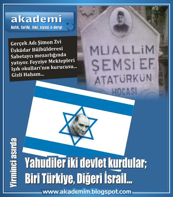 Yahudiler iki devlet kurdular; Biri Türkiye, Diğeri İsrail...