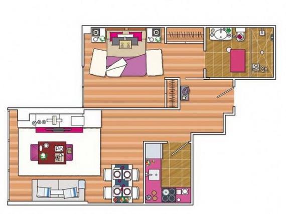 Ideias de decora o para um apartamento de 45 m2 for Small house design 40 sqm