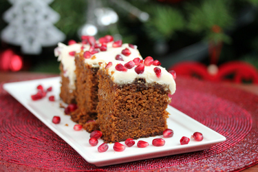 Orange Gingerbread Squares
