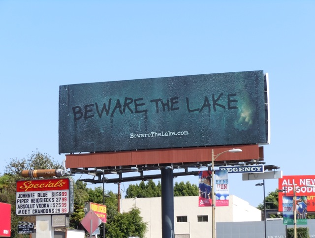 Beware The Lake TV teaser billboard