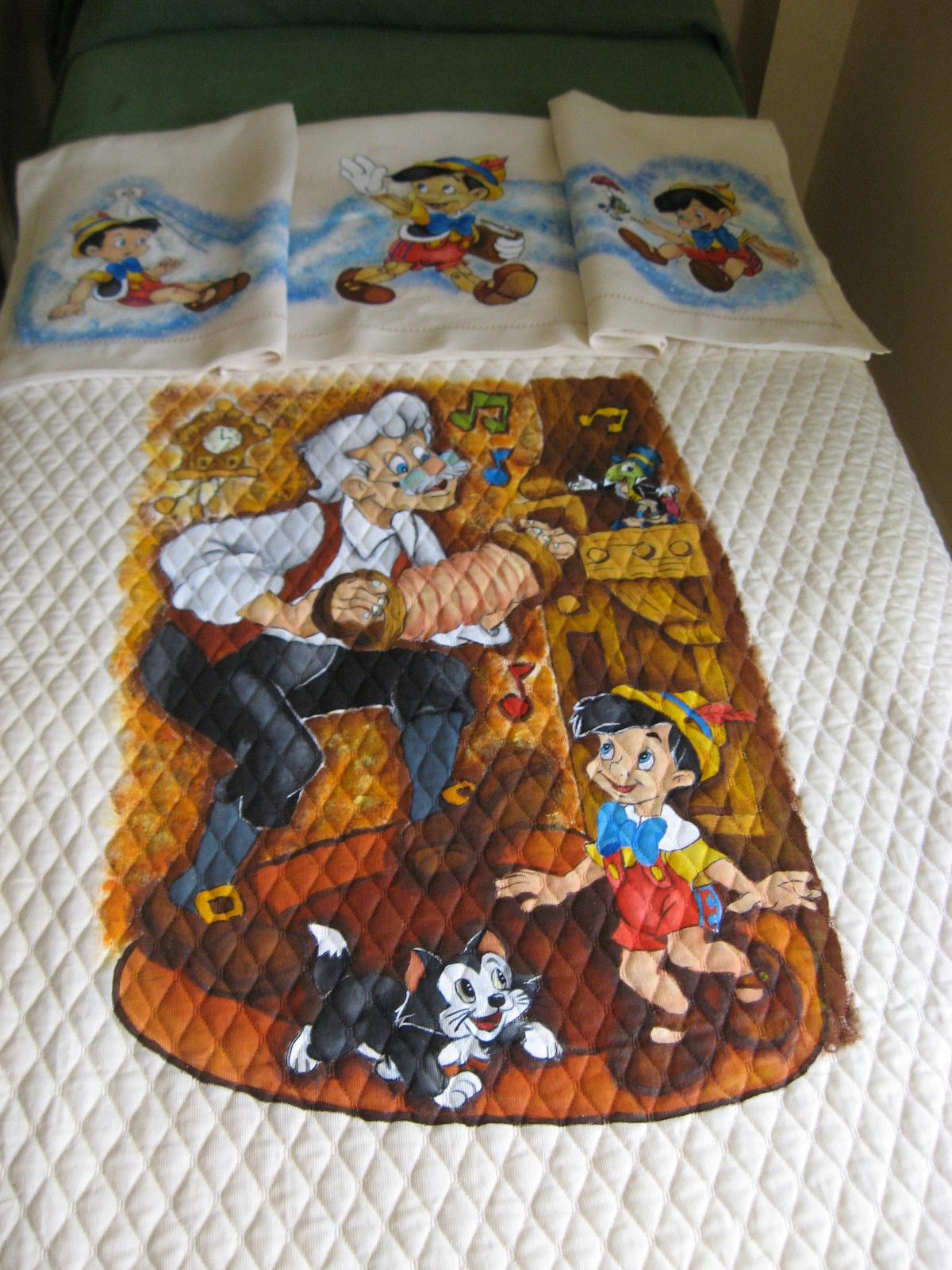 Populaire Completo per culletta(lettino),copertina più lenzuolino Pinocchio  RG84