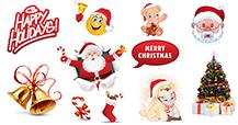 Christmas emoticons for Facebook