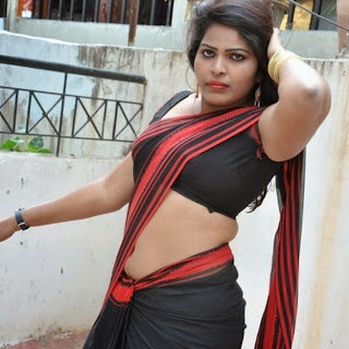Actress Sitara Saree below Navel Show Photos