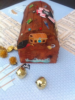 DIY Kids Pirate Treasure Chest