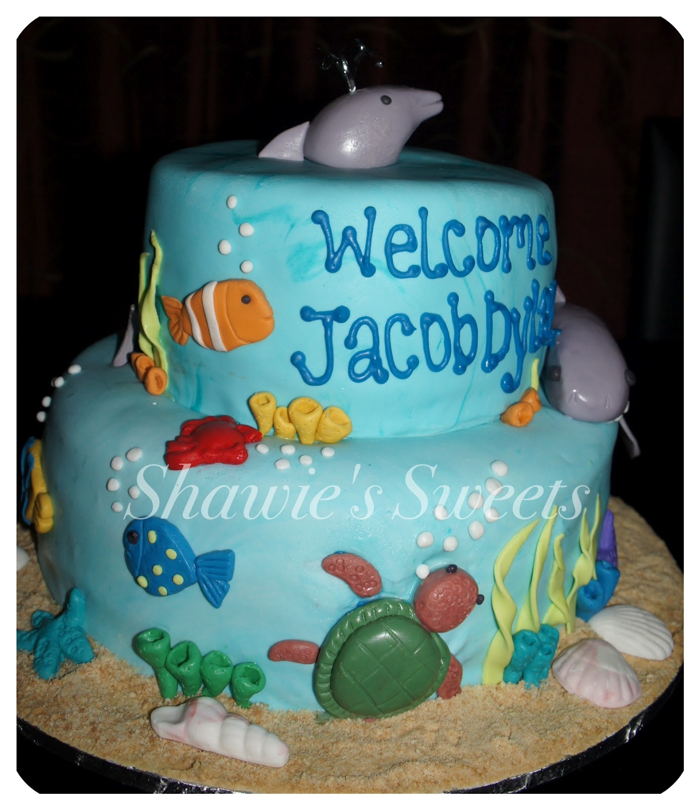 Shawies Sweets Under The Sea Baby Shower Cake Picture
