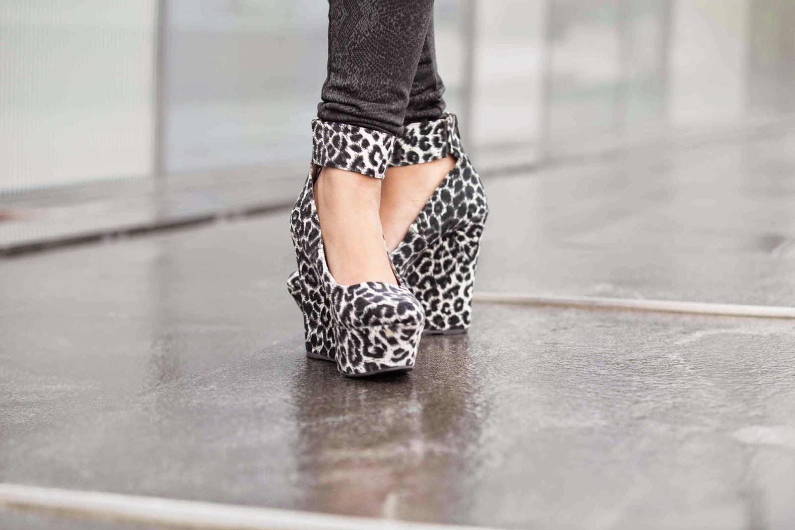 wedges, leopard print wedges, ankle strap wedges, c label wedges, ananya kiran, shoe blogger