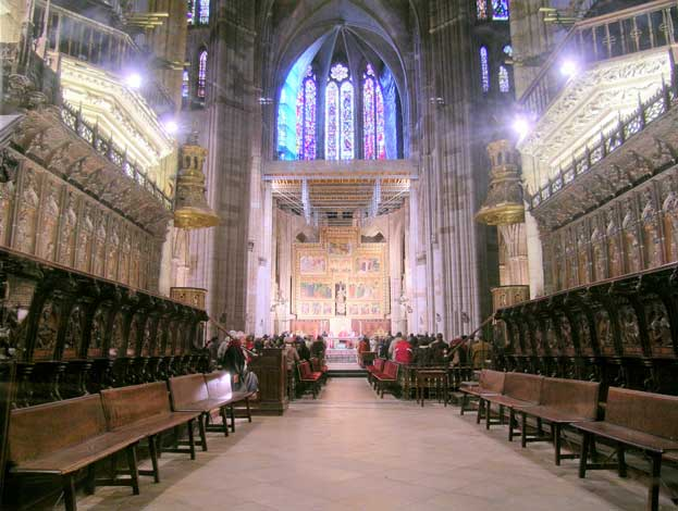 The Cathedral of Leon Inside View