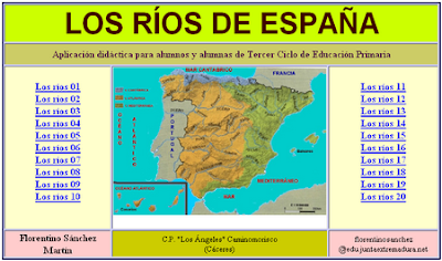 http://cplosangeles.juntaextremadura.net/web/cmedio6/los_rios_de_espana/index.htm