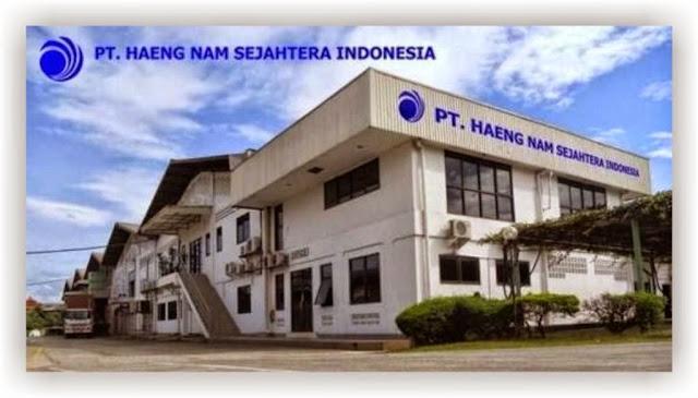 Lowongan Kerja PT Haeng Nam Sejahtera Indonesia (HSI) terbaru