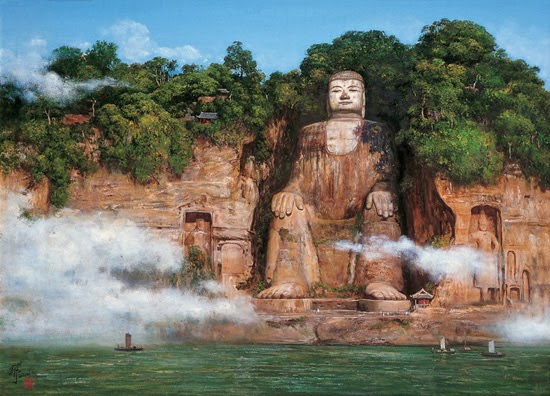 Leshan Giant Buddha in Sichuan, China