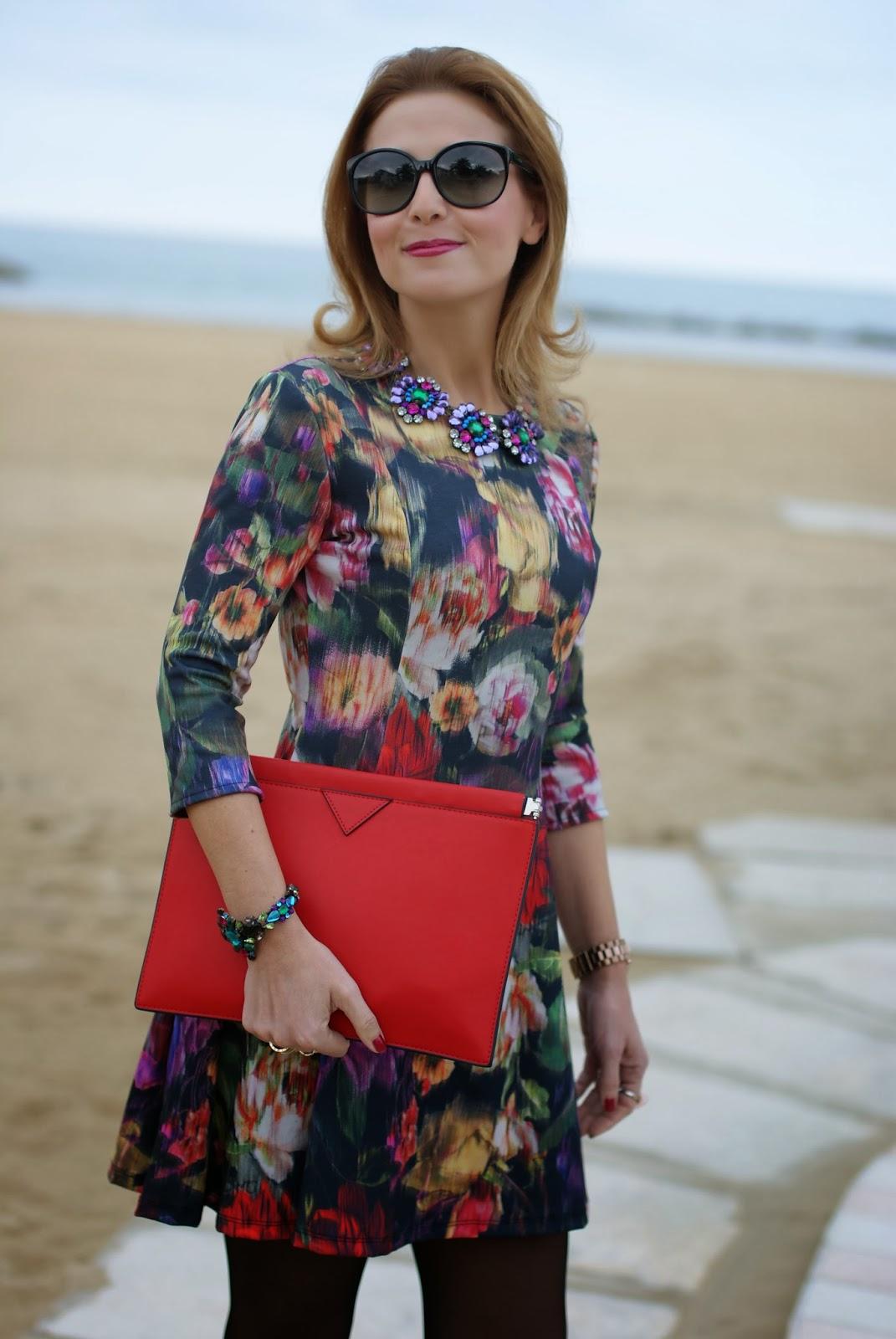 floral dress, Miu Miu sunglasses, amelie necklace, Mercantia gioelli, Fashion and Cookies, fashion blogger