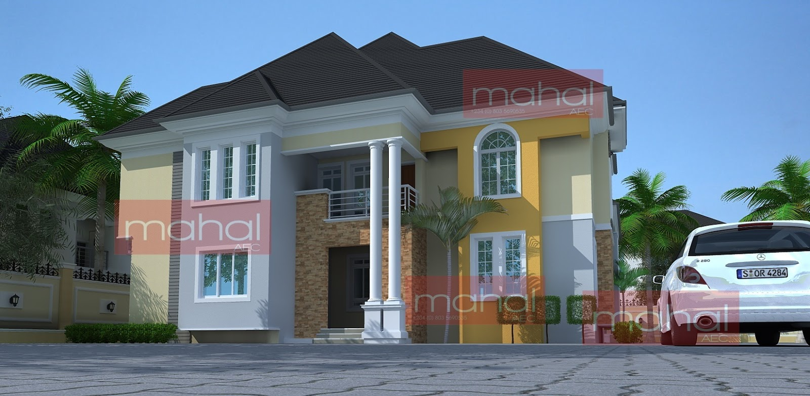 Contemporary nigerian residential architecture nyomi b house for B house