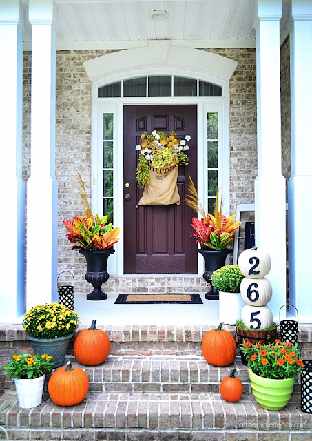 fall door decorations, wreath
