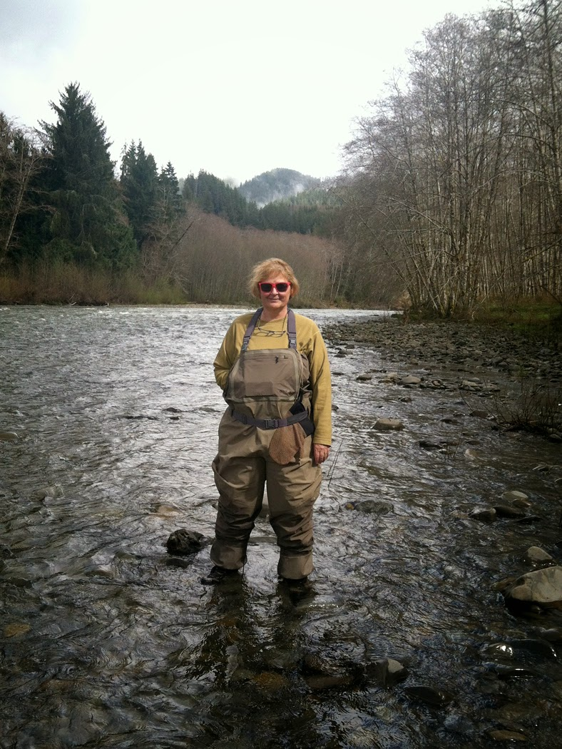 Sam Decker at 3-tug run on Bogachiel river, Olympic Peninsula