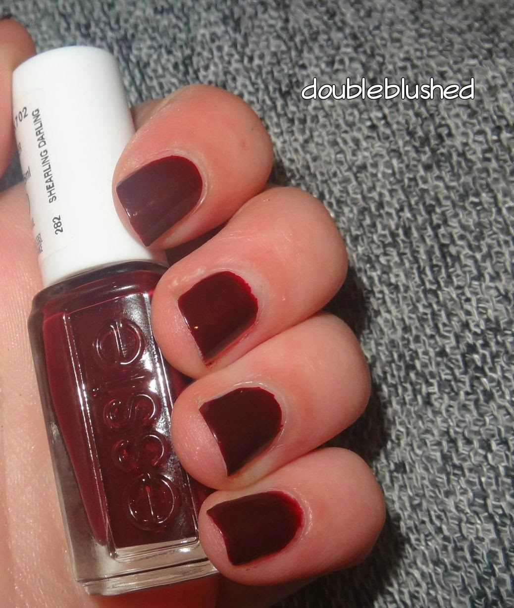 double blushed shearling darling essie winter collection. Black Bedroom Furniture Sets. Home Design Ideas