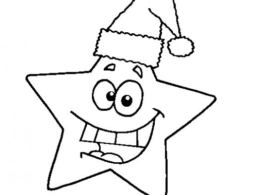 Desenhos Para Colorir Estrela do mar de natal anjo