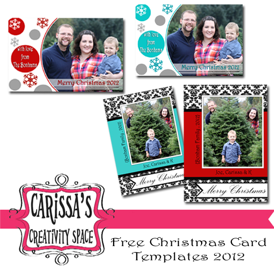 Free Christmas Card Templates Creative Green Living - Free christmas card templates for photographers