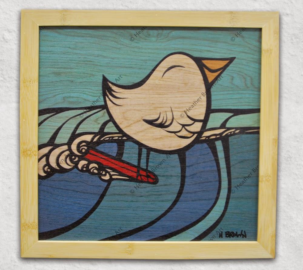 heather brown bird art