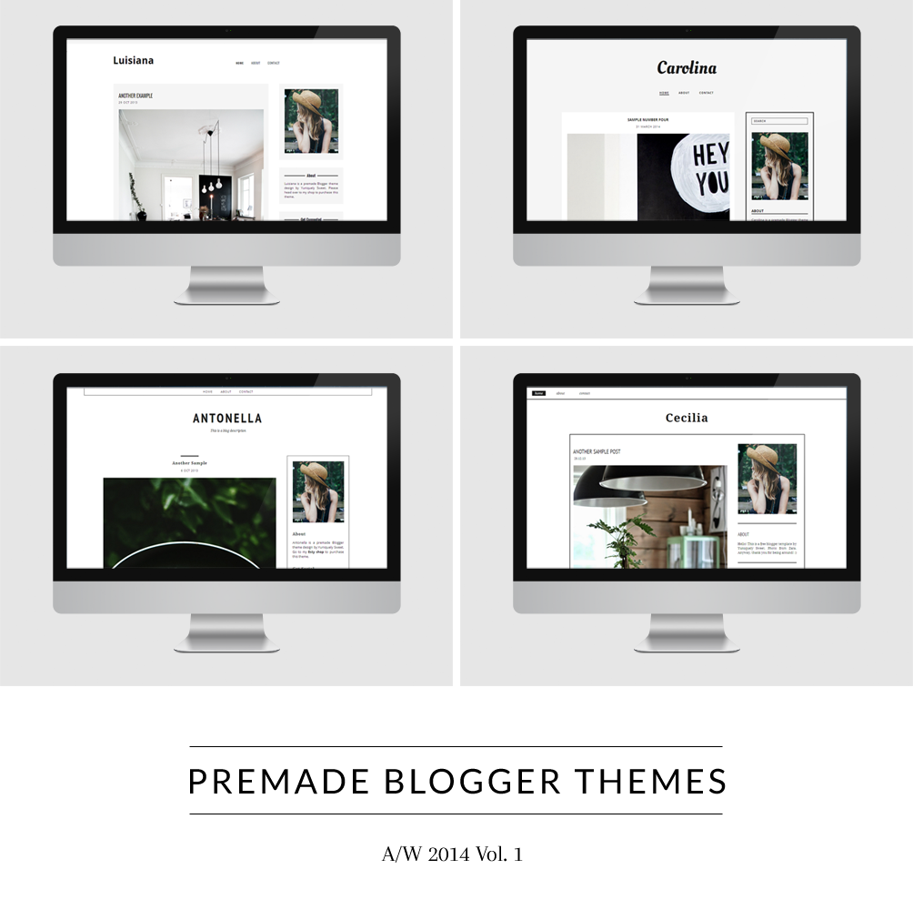 Blogger Themes - A/W 2014 (Vol. 1) - yuniquelysweet.blogspot.com