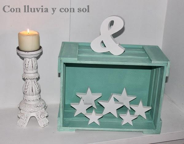 Con lluvia y con sol caja de madera para decorar y organizar - Cajitas de madera para decorar ...