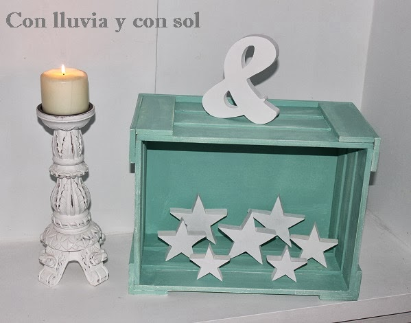 Con lluvia y con sol caja de madera para decorar y organizar - Decorar cajas de madera manualidades ...