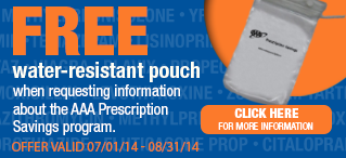 Free Water-Resistant Pill Pouch from AAA