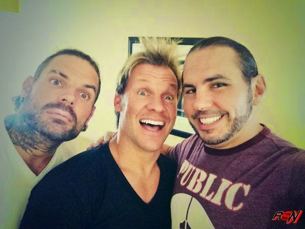 Chris Jericho Hangs Out with The Hardy Boys.
