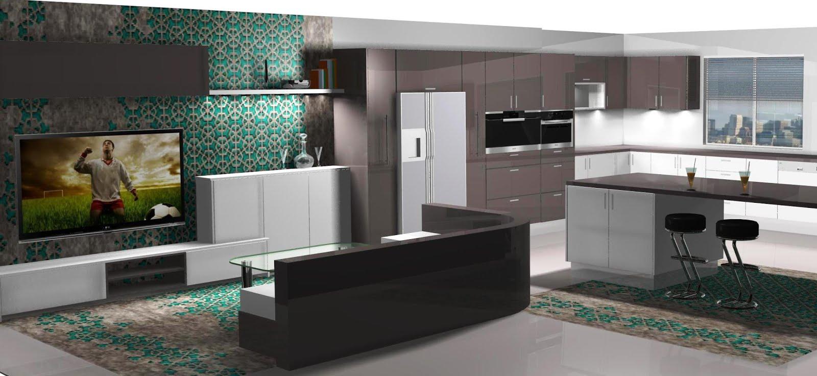 Diseño de cocina lacado en blanco y grafito