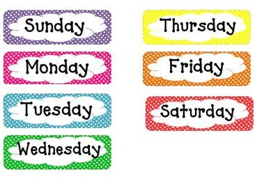 Canny image intended for printable days of the week labels