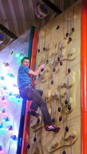 Clip n Climb Maryport - Almost at the top.
