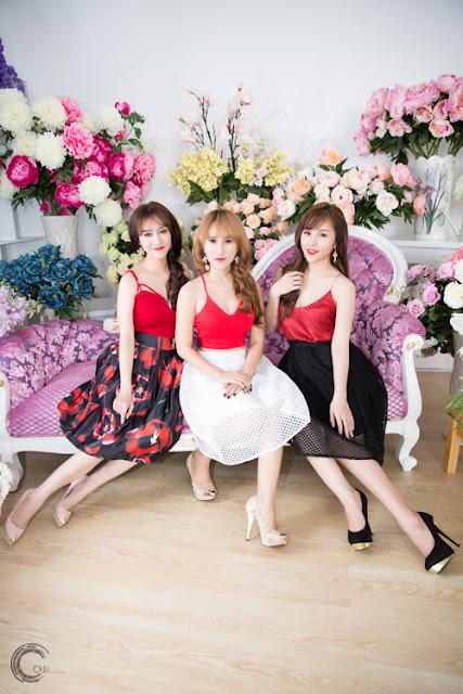 Mây Trắng đã trở lại showbiz được vài tháng với đội hình mới gồm Ngọc Trâm, Ngọc Châu và Bảo Ngọc.