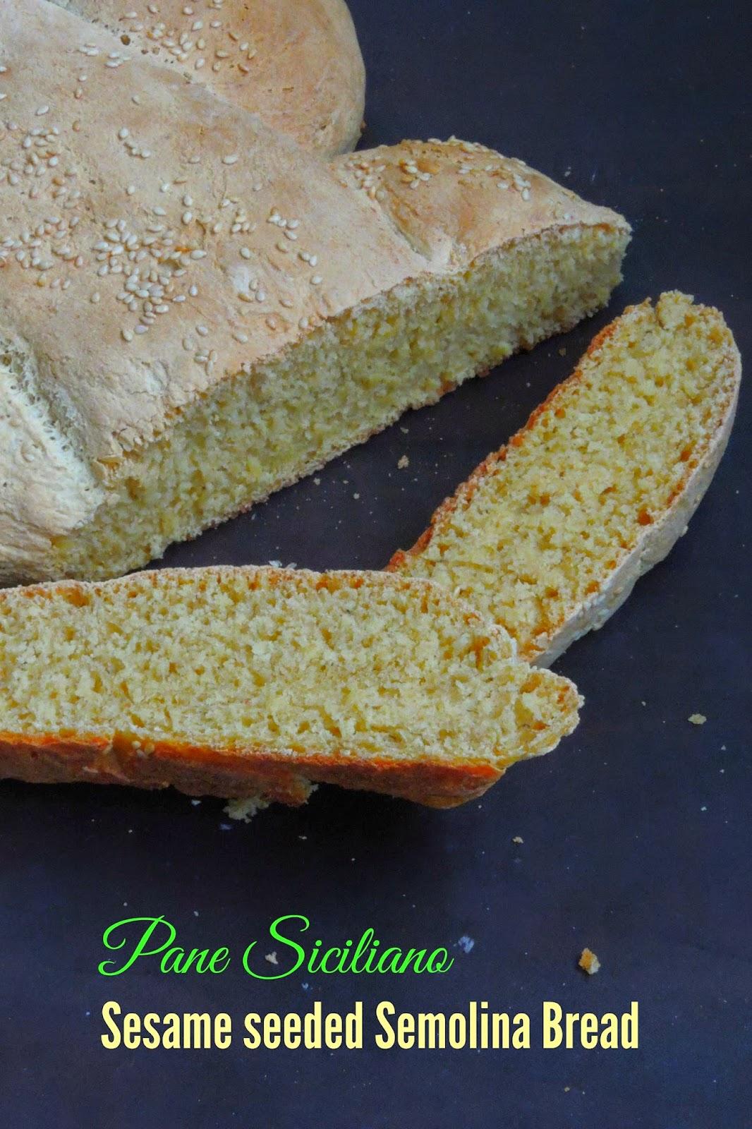 Sesame seeded Semolina Bread
