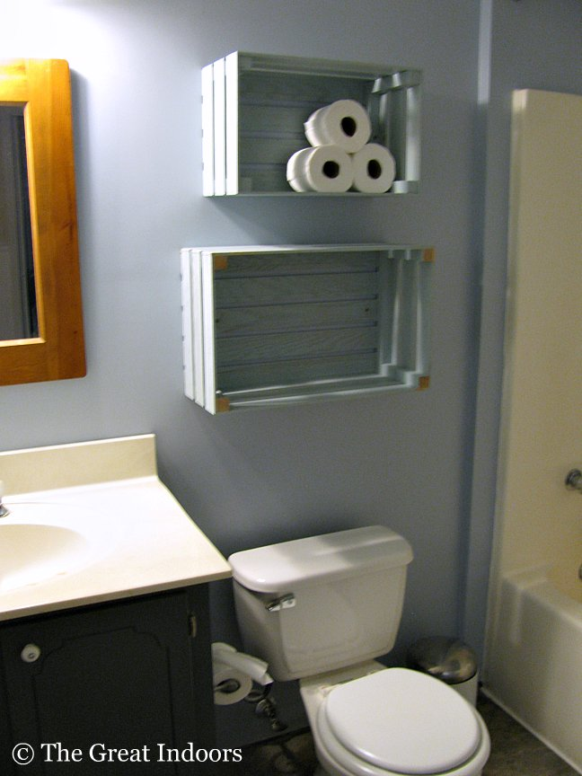 The Great Indoors Guest Bathroom Crate Shelving