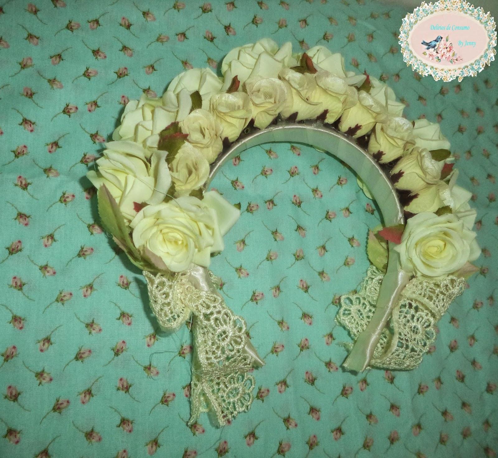 tiara, flores, lolita, fashion, moda, primavera, renda, rosas, sorteio, blog