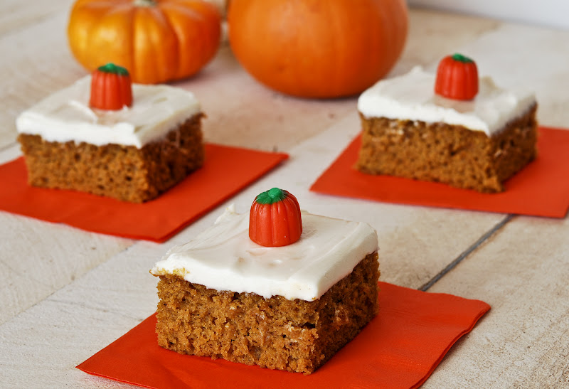 Gonna Want Seconds: Pumpkin Bars with Cream Cheese Frosting