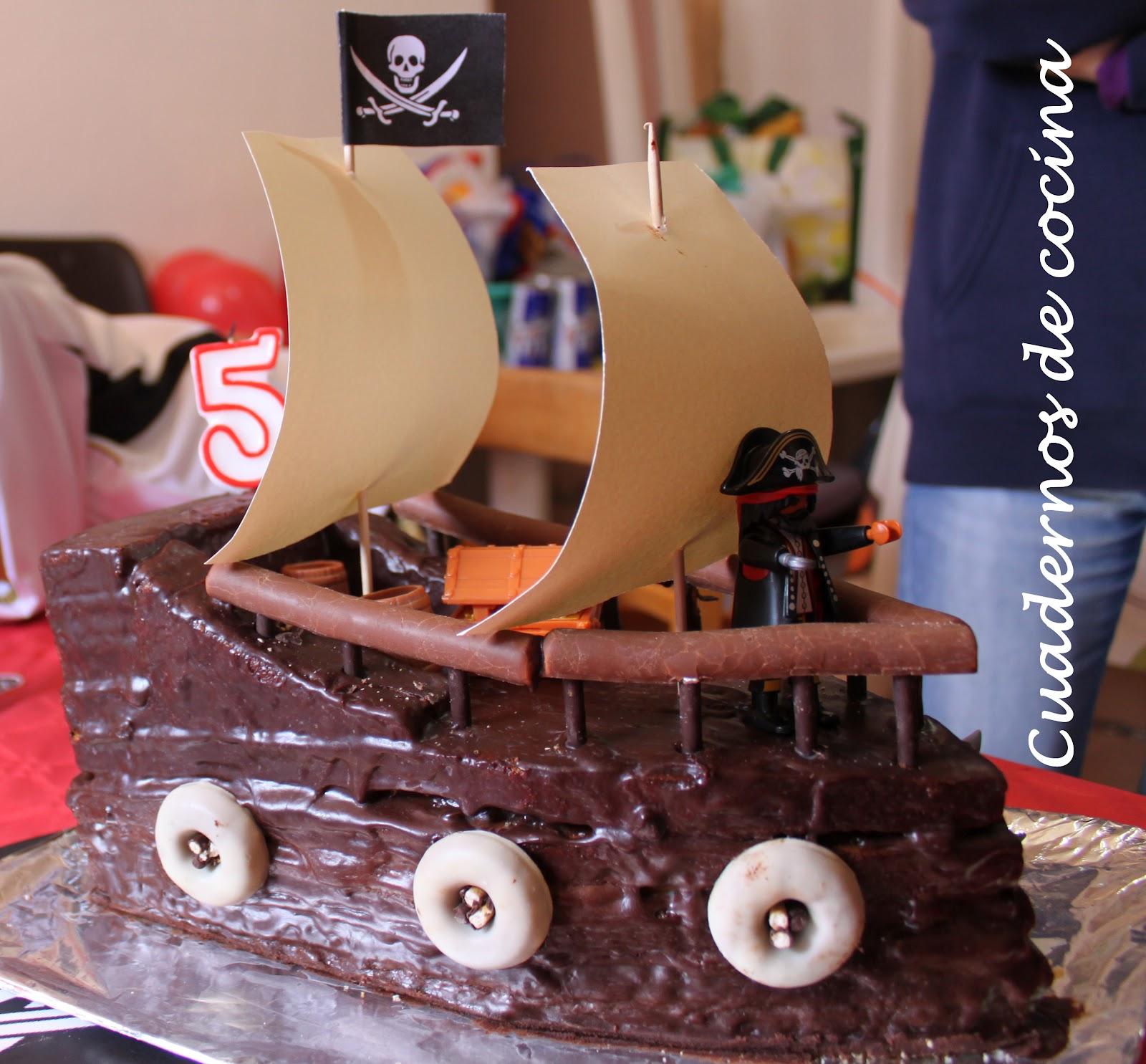 Cuadernos de cocina: Tarta pirata para el 5º cumpleaños de Adrián