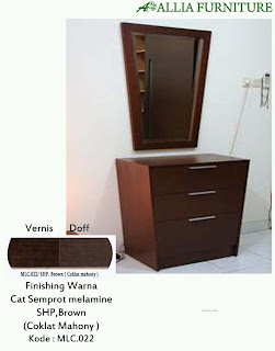 Contoh Furniture Semprot Melamine SHP.Brown ( Coklat Mahony )