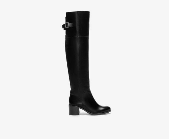 Zara high cut leather boot