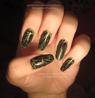 Green with black shatter