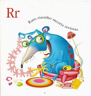Rato risonho recorta revistas