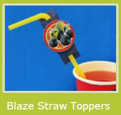 Blaze: Free Printable Straw Toppers.